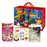 《紅布朗》雅緻養生禮盒(美妍紅薏仁粉+黃金蕎麥茶+超大無籽葡萄乾)