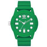 adidas 曠世潮流休閒時尚腕錶-全淺綠