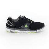 AIRWALK(男) - 挑戰自我記憶鞋墊網布運動鞋 - 黑