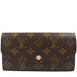 Louis Vuitton LV M61289 EMILIE 新款經典花紋扣式零錢長夾 預購