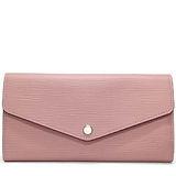 Louis Vuitton LV M61216 Sarah EPI水波紋皮革發財包扣式長夾.粉紅 預購