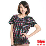 BOBSON 女款彩色愛心短袖上衣(黑23143-02)