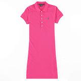 Ralph Lauren 小綠馬素色連身POLO洋裝(粉)