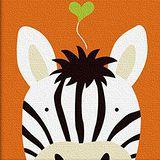 窩自在 兒童DIY創意油畫 動物系列-斑馬 (20X20)