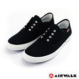 AIRWALK(男) - 就愛帆布鞋 鬆緊帶彈性帆布鞋 - 黑