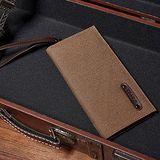 窩自在 新型設計韓版時尚帆布錢包相片包手拿包-咖啡色 (19X9.5X2)