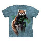 【摩達客】(預購) 美國進口The Mountain 覓食小熊貓 純棉環保短袖T恤