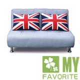 英倫風情雙人兩用沙發床