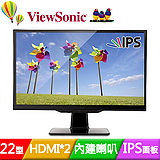 ViewSonic 優派 VX2263Smhl 22吋AH-IPS雙HDMI護眼液晶螢幕