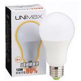 ★2件超值組★美克斯UNIMAX LED燈泡-黃光(10W)