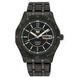 SEIKO 精工五號 簡約風範時尚機械腕錶(IP黑/40mm) 4R36-01F0SD 國際碼:SRP299J1