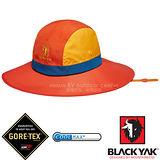 【韓國 BLACK YAK】女新款 潮流暢銷款GORE-TEX防風防水撞色圓盤帽.大盤帽.遮陽帽.休閒帽.牛仔帽/COOLMAX吸濕排汗纖維/BY161WAH0114 橘色