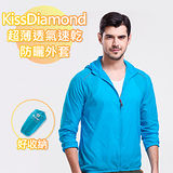 【KissDiamond】超輕薄透氣速乾防曬外套-天藍