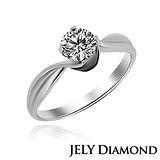 【JELY】狂豔喜悅0.30克拉/F/VS2/H&A八心八箭美鑽戒指
