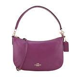 COACH CHELSEA 牛皮肩背/斜背兩用包(玫紫)
