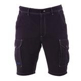 【hilltop山頂鳥】男款吸濕排汗抗UV彈性短褲S09M62-黑