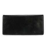 Timberland 鋼壓Logo自然皮革紋零錢袋長夾-黑色