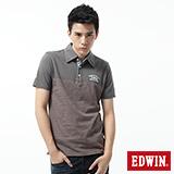 EDWIN 休閒復古短袖POLO衫-男-中灰