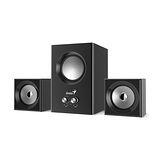Genius 昆盈 SW-2.1 375 音色驚豔三件式木質音箱喇叭(黑色)