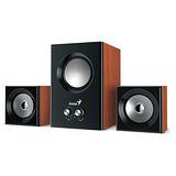 Genius 昆盈 SW-2.1 375 音色驚豔三件式木質音箱喇叭(原木色)