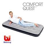 《購犀利》美國品牌【Bestway】73x30x8.5吋單人高級植絨休閒充氣床墊-灰