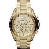 Michael Kors 羅馬假期三眼計時腕錶-金/42mm MK5605