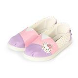 (中大童) HELLO KITTY 套式懶人鞋 紫粉 鞋全家福