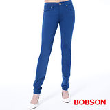 BOBSON  女款低腰膠原蛋白拉毛小直筒褲(8139-50)