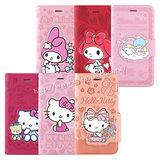 Sanrio iPhone 6/6s 彩繪皮革筆記本式皮套-KITTY/MELODY/KIKILALA