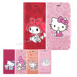 Sanrio iPhone 6 Plus/6s Plus 彩繪皮革筆記本式皮套-KITTY/MELODY/KIKILALA