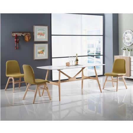 泰林6尺實木餐桌(白橡色) -friDay購物 x GoHappy