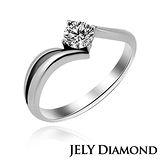 【JELY】熱烈0.30克拉/F/VS2/H&A八心八箭美鑽戒指