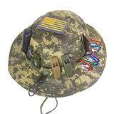 Mountain 山行戰術圓頂美軍沙漠迷彩帽圓邊帽(附國旗徽章插槽設計)Multicam圓盤帽CP多地全地形擴邊帽MC-247
