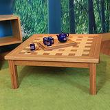 【HAPPYHOME】竹製日式格紋方桌(几)/邊桌/桌子/RZ6-ST-2