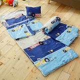 HO KANG 100%純棉兒童睡袋 鋪棉涼被兩用 加大款- 瘋狂賽車