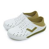 【女】PONY 防水透氣 EN-JOY 二代洞洞休閒鞋 白卡其 62U1SA67GD