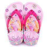 童鞋城堡-Barbie芭比 中童 甜美夾腳拖鞋BR2404-桃