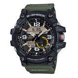 G-SHOCK 全方位傳感器休閒運動錶/GG-1000-1A3/帆布綠/55.3m