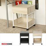 【RICHOME】時尚環保E1板單抽公文櫃/床頭櫃-2色