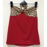 日本CIELO 現貨-性感豹紋蝴蝶結小可愛上衣-紅