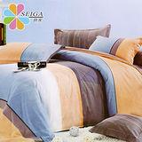 飾家《藍夢》雙人絲柔棉四件式床包被套組台灣製造