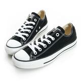 Converse 男/女鞋 經典膠底帆布鞋 黑-M9166C