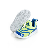 Adidas 童鞋 休閒鞋 藍螢光黃-AQ5109