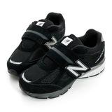 New Balance 大童鞋 復古慢跑鞋 黑白 KV990BSP