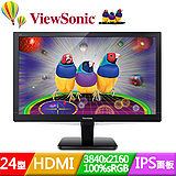 ViewSonic 優派 VX2475Smhl-4K 24吋IPS面板4K繪圖電競液晶螢幕
