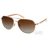 COACH太陽眼鏡 復古飛官偏光款(透金-透棕) #COS7053 9227T5