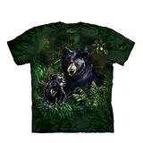 【摩達客】(預購) 美國進口The Mountain 黑熊之愛 純棉環保短袖T恤