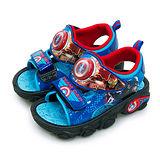 【中童】MARVEL 漫威 閃燈運動涼鞋 台灣製造 復仇者聯盟系列 藍紅黑 65076