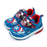【中童】MARVEL 漫威 運動底燈跑步鞋 台灣製造 衝擊光速系列 藍紅銀 65106