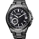 CITIZEN GPS光動能衛星對時限量鈦金屬腕錶-黑/42mm CC3015-57E